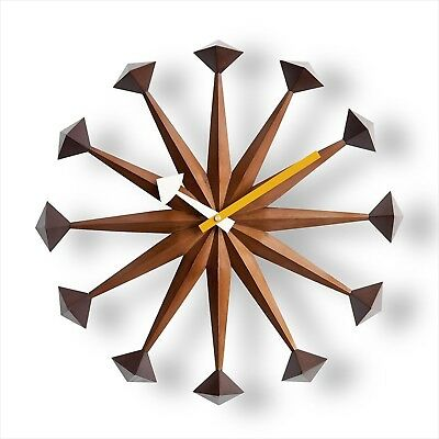 George Nelson Polygon Clock Daiva Walnut Brown Designer New Japan import NEW