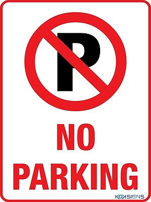 No Parking Sign  --  Various Sizes Sign & Sticker Options  --  No Parking Sign
