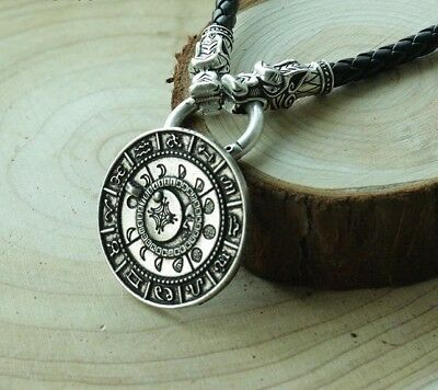 Valknut Handmade viking The old moon phase talisman Norse Necklace Pendants