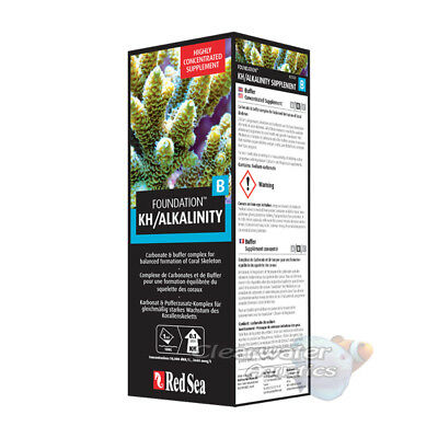 RED SEA REEF FOUNDATION B KH ALKALINITY 500ml CORAL MARINE AQUARIUM FISH TANK