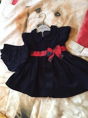 baby girls matalan dress with knickers size 9-12 months 2 piece set