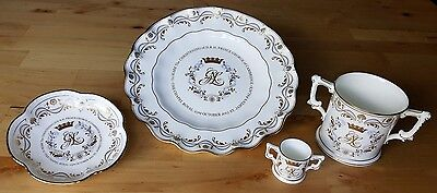 Royal Crown Derby Christening of Prince George, Four Piece Set