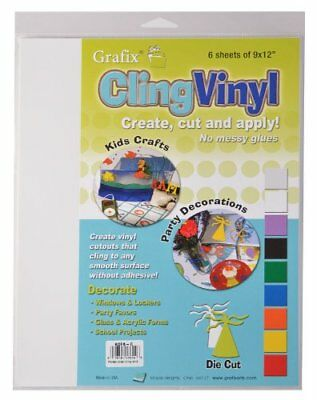 Grafix 9-Inch-by-12-Inch Cling Film 6-Pack Clear