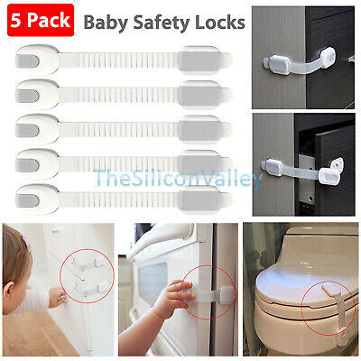 5x Infant Baby Safety Lock Strap Child Proof Drawer Door Cabinet Cupboard Toddle