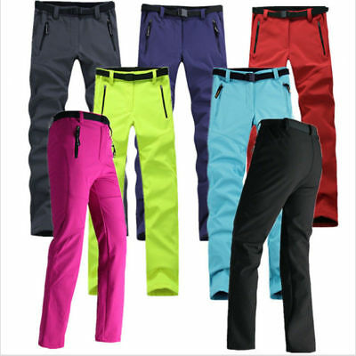 Soft Shell Women Waterproof Hiking Snow Ski Golf Warm Pants Trousers Breathable
