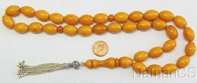 Prayer Beads Tesbih Gebetskette Genuine Antique Miskeh Faturan Almani Big Oval
