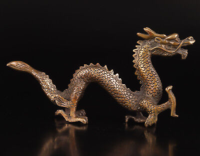Age Of Teras Bronze Statue Figurine Sacred Dragon Belief Collection Value