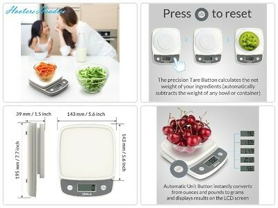 Digital Kitchen Scale by Zerla - Versatile Food Scale - Weigh Snacks, Liquids,