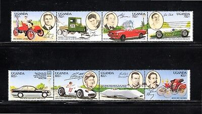 Uganda 1994 Henry Ford and Karl Benz centenaries SG 1298/1305 MUH
