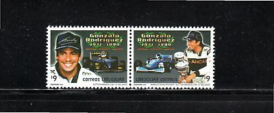 Uruguay 2000 Anniversary Death of Gonzalo Rodriguez SG 2627/8 MUH