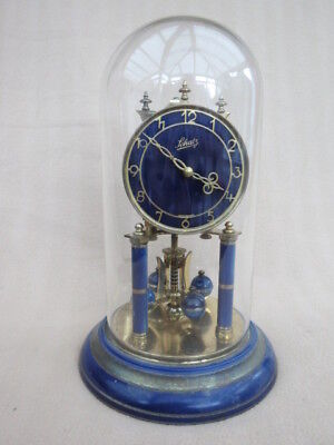 Vintage Schatz Blue Enamel/paint Torsion Anniversary Clock For Tlc