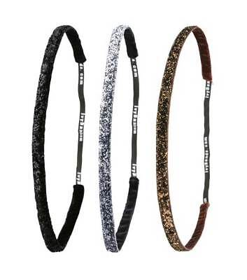 Ivybands Anti-Rutsch Haarband Set Glitzer Edition