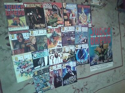 18 x 2000 AD JUDGE DREDD MEGAZINE COMICS : # 1 , 32, 43, 62, 207 , 316 -328