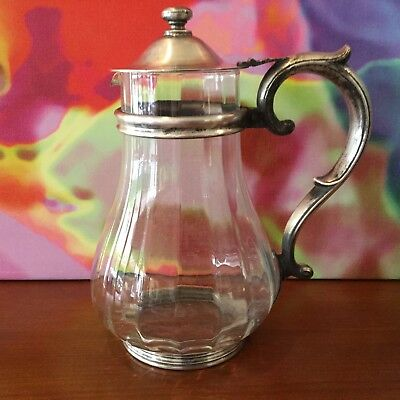 Reed & Barton // Silver Soldered #120 // Glass Pitcher // Circa 1930's