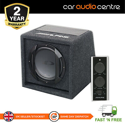 """Alpine SWE-815 8"""" Car subwoofer with built in Alpine amplifier powered enclosure"""