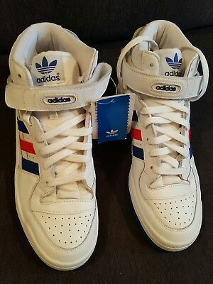 huge selection of c6de0 5e758 germany nib adidas originals forum mid white red blue 9.5us classic classic  collectible bd85d 5a854