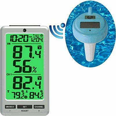 Ambient Weather WS-25 Wireless 8 Channel Floating Pool and Spa Thermometer wi...