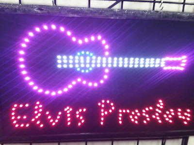 New Design Big Bright Elvis Presley LED Neon Guitar Sign  Flash Roxy Display