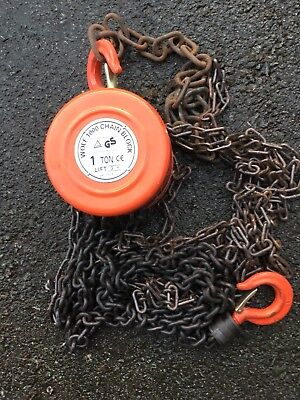 1 Ton Chain Block Hoist Heavy Duty Tackle Engine Lifting Pulley
