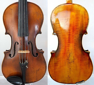 FINE 4/4 ANTIQUE FRENCH VIOLIN Label D.SORIOT  FLAMED WOOD fiddle 小提琴 ヴァイオリン