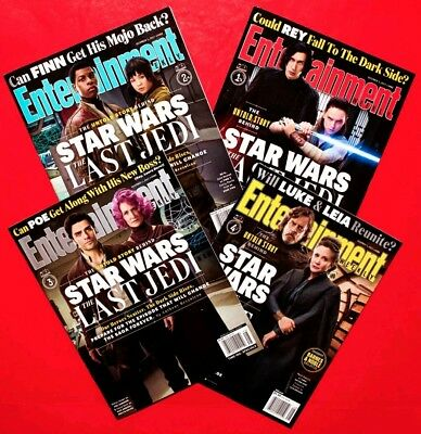 ENTERTAINMENT WEEKLY STAR WARS THE LAST JEDI Complete 4 Magazine Set 2017 SEALED