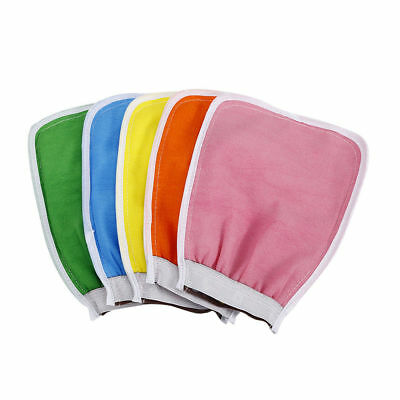 Exfoliating Body Scrub Gloves Shower Bath Mitt Loofah Skin Massage Sponge Spa QJ