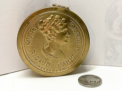1910 Antique Rigaud Mary Garden Face Powder Tin Compact Advertising Cosmetic Can