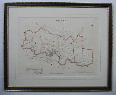 Richmond (North Yorkshire): antique map by Robert Dawson, 1832