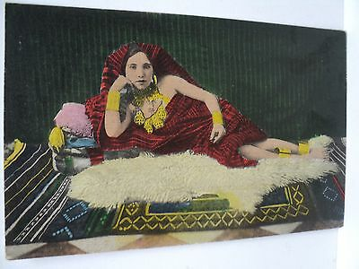 Vintage Cpa Libye Italienne  Odalisque Prostituee  1943  Rarissime