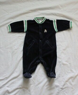 Ralph Lauren baby boy SIZE 6 months one piece velour jumpsuit  Polo Bear