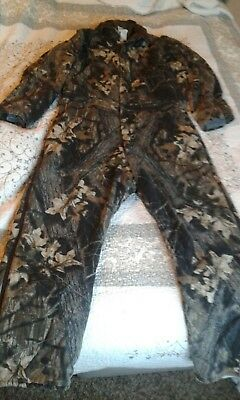 10X Camo Coveralls Insulated Size Large