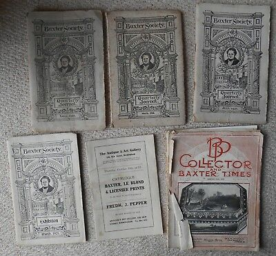 Booklets, Baxter Society, Journal, Catalogues etc, 1920's, George Baxter Prints