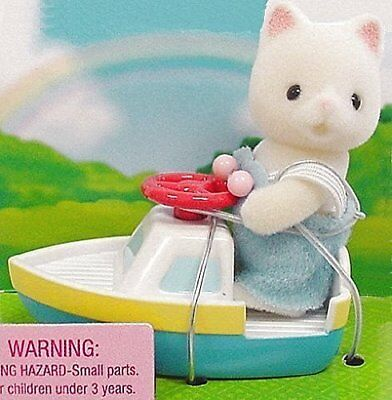 1 X Calico Critters - Baby Carry Case - Cat and Toy Boat