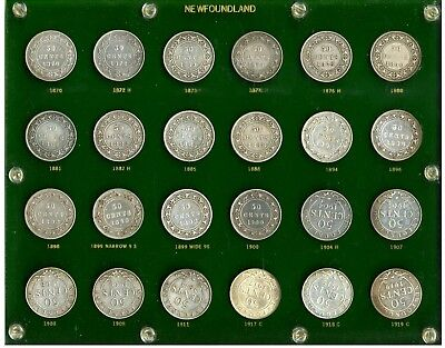 Newfoundland Complete Set of 50 Cents Total: 24 Coins
