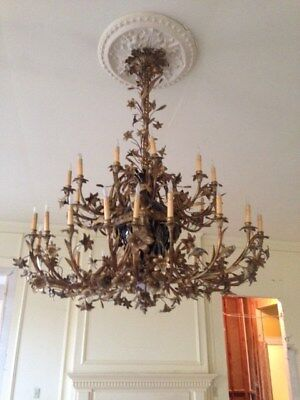 Antique Chandelier 30 Arm Bronzemade inItaly or France Good Condition