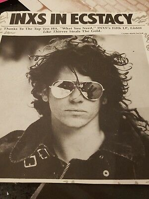 INXS Michael Hutchence - MAGAZINE posters and article 1980s