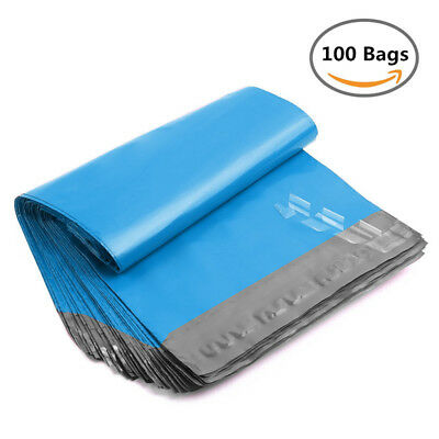 100 10x13 Poly Mailers Shipping Mailing Plastic Envelopes Bags 2.5 Mil Blue