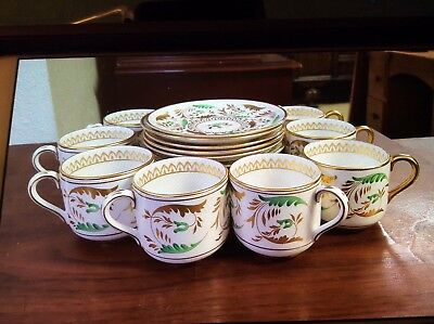 Tiffany&Co. New York Grosvenor Bone China Made in Eng. Dorian 10 Cups 12 Saucers