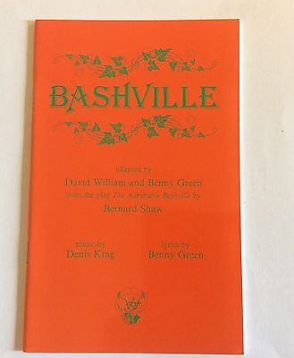 Bashville Acting Edition Denis King And Benny Green