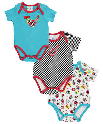 "Duck Duck Goose Baby Boys' ""Checkered Rock"" 3-Pack Bodysuits"