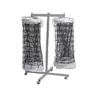 Tandem Sport Double Net Storage Rack Holds up to 2 Volleyball Nets