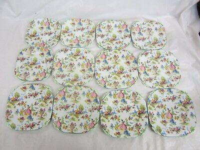 Lot of 12  Royal Albert  Lady Gay  5 Plates 6 1/8 inch 7 Plates 6 7/8 inches