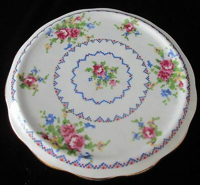 Vintage England Royal Albert 'petit Point' Trivet #778676