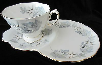 "Vintage England Royal Albert ""silver Maple"" Hostess / Tennis Set"