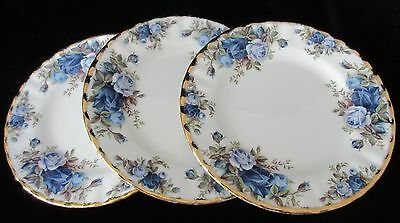 Three Vintage England Royal Albert 'moonlight Roses' Desert Plates