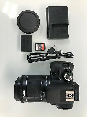 Canon EOS Rebel SL1 EOS 100D 18.0 MP Digital SLR Camera - Black