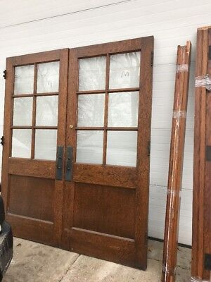 MET6 Match Pair Antique Double Door Passage With Jam 6' X 84