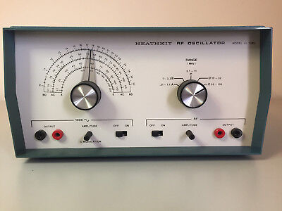 Heathkit IG-5280 RF Signal Generator, 1KHz Audio, manual, leads, battery TESTED