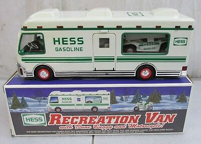 1998 Hess Truck Recreation Van With Dune Buggy and Motorcycle