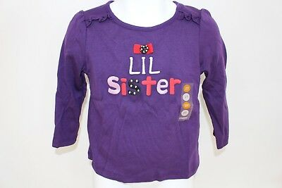 Gymboree Holiday Winter Penguin Baby Girls Size 2T Top Shirt Lil Sister NWT NEW